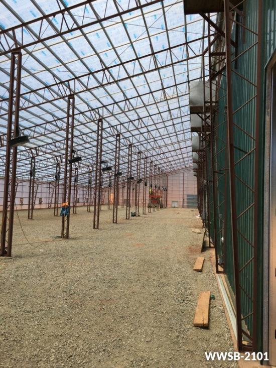 Elegant Inside Steel Building Greenhouse