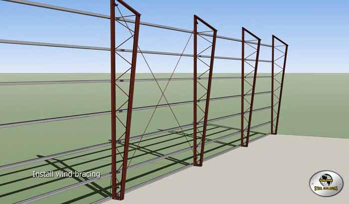 install wind bracing