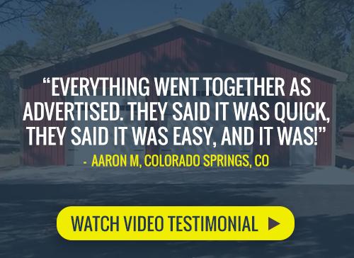 Watch a video testimonial by a satisfied Worldwide Steel Buildings customer talking about his new steel building kit.